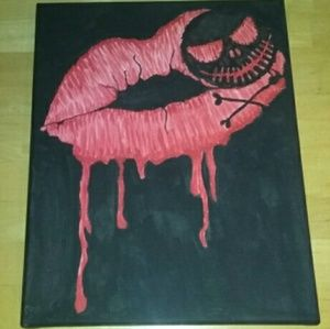 CUSTOM PAINT POISON LIPS JACK SKELLINGTON CANVAS